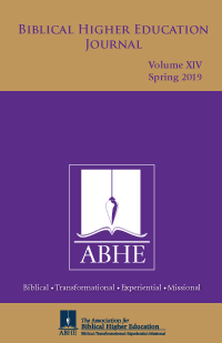 2019 Biblical Higher Education Journal