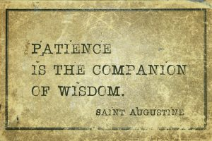 patience is the companion of wisdom