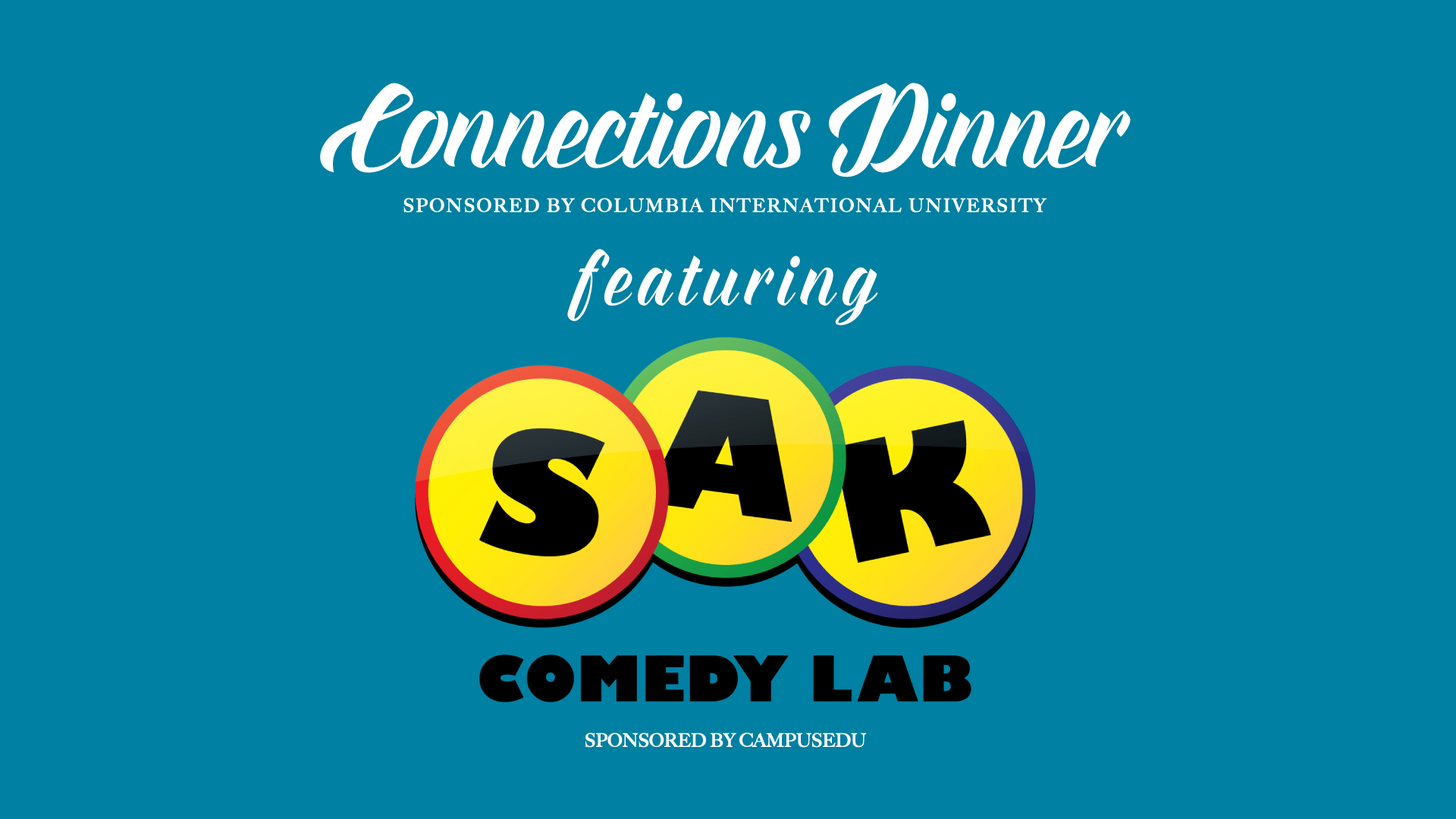 Connections Dinner Featuring SAK Comedy Lab